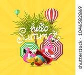 summer time vector banner... | Shutterstock .eps vector #1046582869