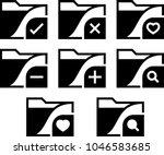 computer miscellaneous folder... | Shutterstock .eps vector #1046583685