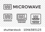 microwave oven safe icon... | Shutterstock .eps vector #1046585125