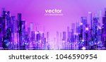 night city background. urban... | Shutterstock .eps vector #1046590954