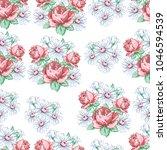 rose and chamomile flower hand... | Shutterstock .eps vector #1046594539
