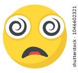 flat emoji icon design with... | Shutterstock .eps vector #1046602321