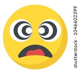 flat emoji icon design with... | Shutterstock .eps vector #1046602399