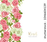 wedding invitation with wild... | Shutterstock .eps vector #1046604139