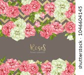 wedding invitation with wild... | Shutterstock .eps vector #1046604145