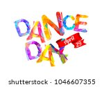 dance day. april 29. vector... | Shutterstock .eps vector #1046607355