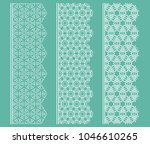 vector set of line borders with ... | Shutterstock .eps vector #1046610265