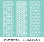 vector set of line borders with ... | Shutterstock .eps vector #1046610271