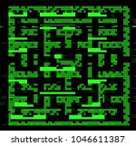 labyrinth is a simple level in... | Shutterstock .eps vector #1046611387