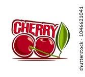 illustration of cherry  label... | Shutterstock . vector #1046621041