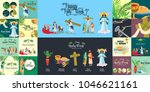 set for christianity holy week... | Shutterstock .eps vector #1046621161