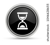 hourglass black button with...