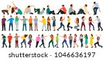 flat style  isometric people... | Shutterstock .eps vector #1046636197