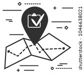 check list and map icon in...