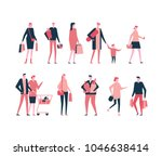 shopping   flat design style... | Shutterstock .eps vector #1046638414
