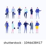 office workers   flat design... | Shutterstock .eps vector #1046638417