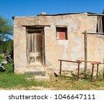 derelict storeroom on farm in...   Shutterstock . vector #1046647111