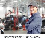 auto repair service. handsome... | Shutterstock . vector #104665259