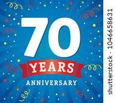 70 years anniversary logo... | Shutterstock .eps vector #1046658631