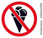 no ice symbol  no ice cream... | Shutterstock .eps vector #1046661004