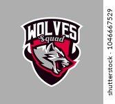colorful emblem  logo  snarling ... | Shutterstock .eps vector #1046667529