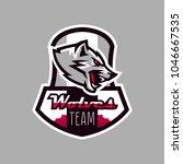 colorful emblem  logo  snarling ... | Shutterstock .eps vector #1046667535