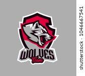 colorful emblem  logo  snarling ... | Shutterstock .eps vector #1046667541