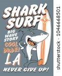typography slogan with shark... | Shutterstock .eps vector #1046668501
