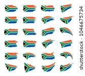 south africa flag  vector...   Shutterstock .eps vector #1046675734