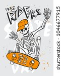 typography slogan with skull... | Shutterstock .eps vector #1046677915