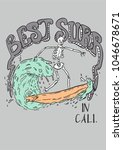 typography slogan with skull... | Shutterstock .eps vector #1046678671