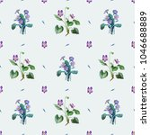 small bouquets of violas and... | Shutterstock . vector #1046688889