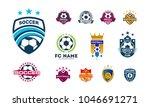 set of various soccer football...   Shutterstock .eps vector #1046691271