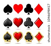 suit of playing cards. vector... | Shutterstock .eps vector #1046698417