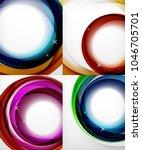 vector transparent color wave... | Shutterstock .eps vector #1046705701