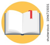 open book flat design icon | Shutterstock .eps vector #1046715031