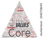 vector conceptual core values...   Shutterstock .eps vector #1046728645