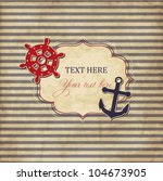 vintage scrap nautical card... | Shutterstock .eps vector #104673905