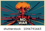 say no to war  nuclear bomb... | Shutterstock .eps vector #1046741665