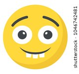 an emoticon depicting... | Shutterstock .eps vector #1046742481