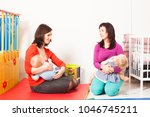 mothers are breastfeeding the...   Shutterstock . vector #1046745211