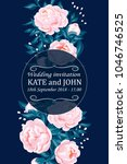 wedding invitation card suite... | Shutterstock .eps vector #1046746525