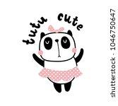 vector illustration  adorable... | Shutterstock .eps vector #1046750647
