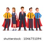 business man and woman super... | Shutterstock .eps vector #1046751094