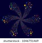 Colorful Space Symbols Swirl...