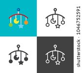 baby mobile icons | Shutterstock .eps vector #1046752591