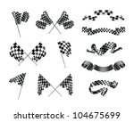 checkered flags set  bitmap copy | Shutterstock . vector #104675699