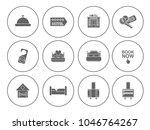 hotel service set   travel sign ... | Shutterstock .eps vector #1046764267
