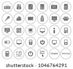 electronic computer icons set   ... | Shutterstock .eps vector #1046764291