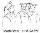 continuous line drawing of... | Shutterstock .eps vector #1046766499